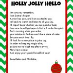 Elf On The Shelf Breakfast Ideas Printable Letter & Christmas Pjs   Free Printable Elf On The Shelf Letter