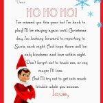 Elf On The Shelf Letter {Free Printable} | Christmas | Elf On The   Free Printable Elf On The Shelf Letter