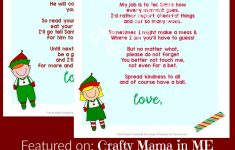 Elf On The Shelf Letters {Free Printables} – Crafty Mama In Me! – Free Printable Elf On The Shelf Letter
