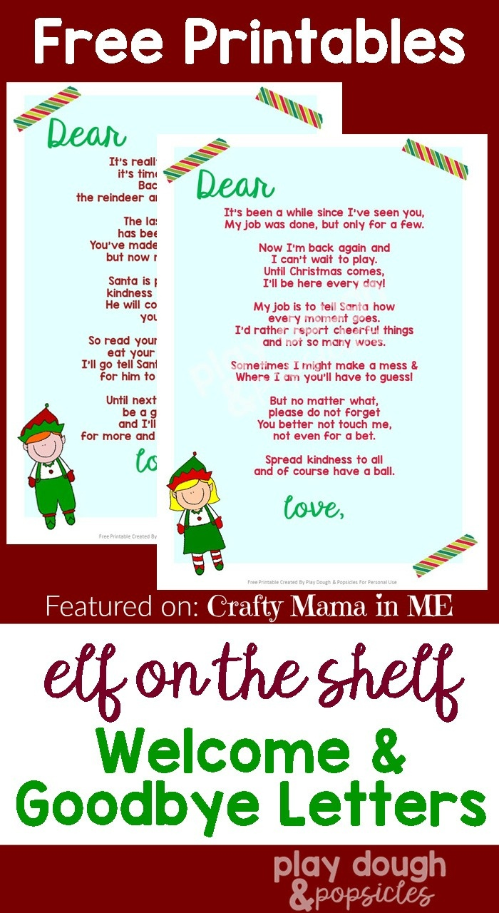 Free Printable Elf On The Shelf Letter