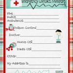 Emergency Numbers Printable | Emergency Contact Phone Numbers And A   Free Printable Emergency Phone List