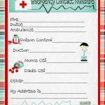 Emergency Numbers Printable   Emergency Contact Phone Numbers And A   Free Printable Emergency Phone List