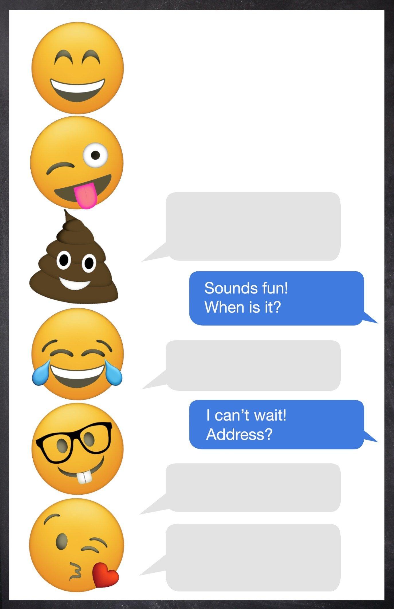 Emoji Birthday Invitations Free Printable Template | Shreya Birthday - Free Printable Emoji B Day Invites