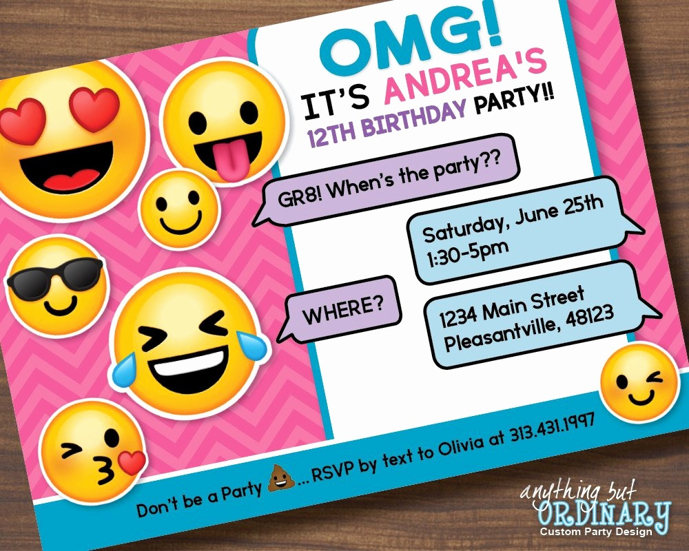 Emoji Invitations Printable Free Awesome Printable Emoji Birthday - Free Printable Emoji B Day Invites