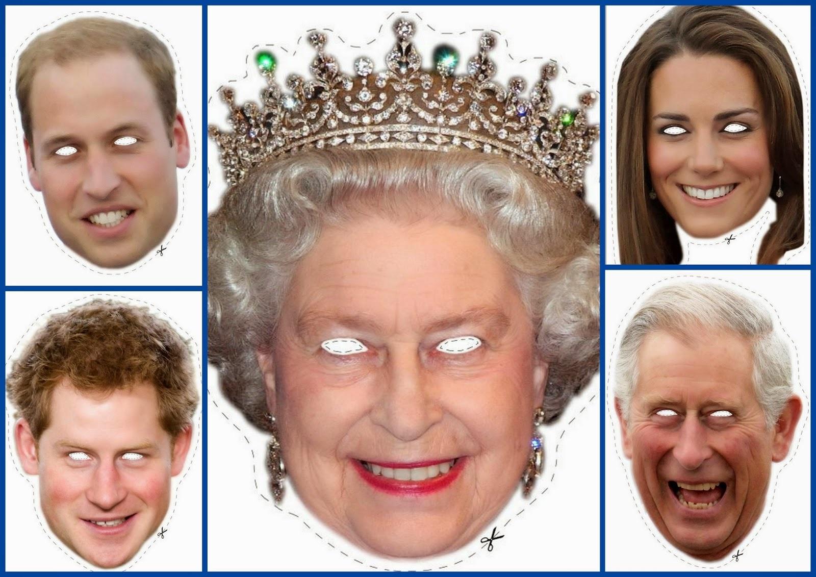 English Royal Family Free Printable Masks. - Oh My Fiesta! In English - Free Printable Face Masks