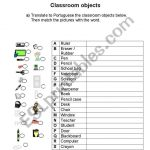 English Worksheets: Classroom   Free Printable Portuguese Worksheets