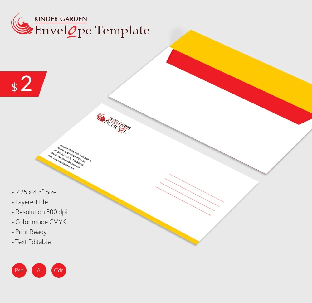 Envelope Template - 37+ Free Printable Psd, Pdf, Eps, Word, Excel - Free Printable Envelope Size 10 Template