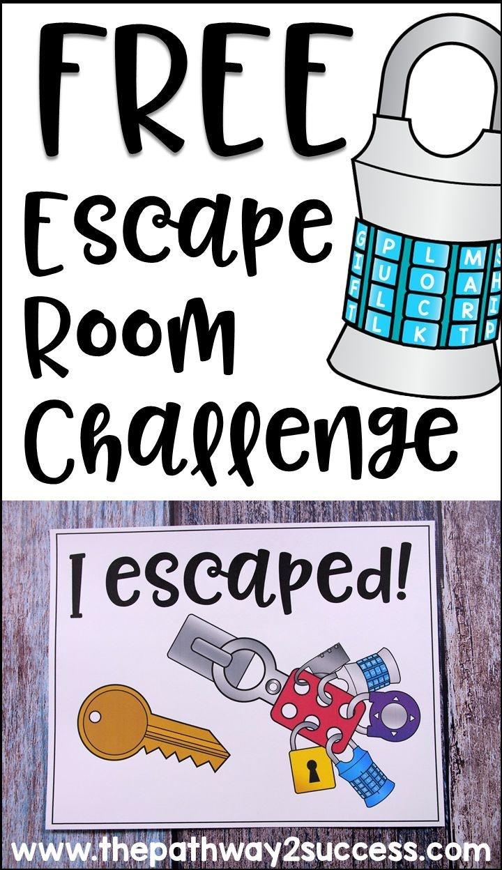 Executive Functioning Escape Room Activity | Cool Stuff From The - Free Printable Escape Room Game