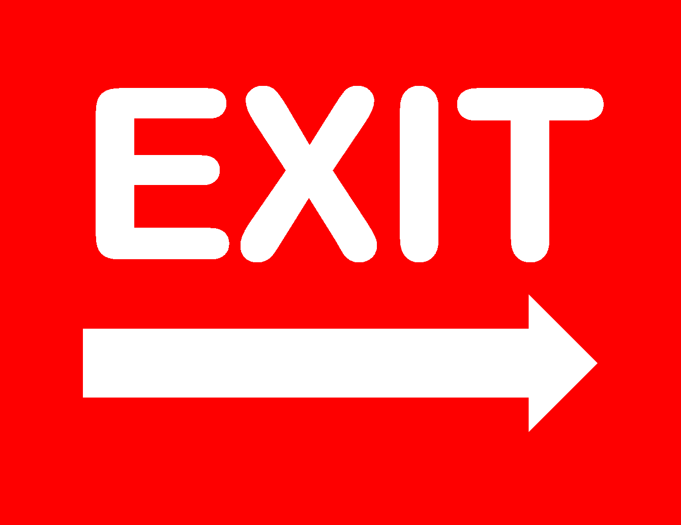 Exit Sign - Free Printable No Exit Signs