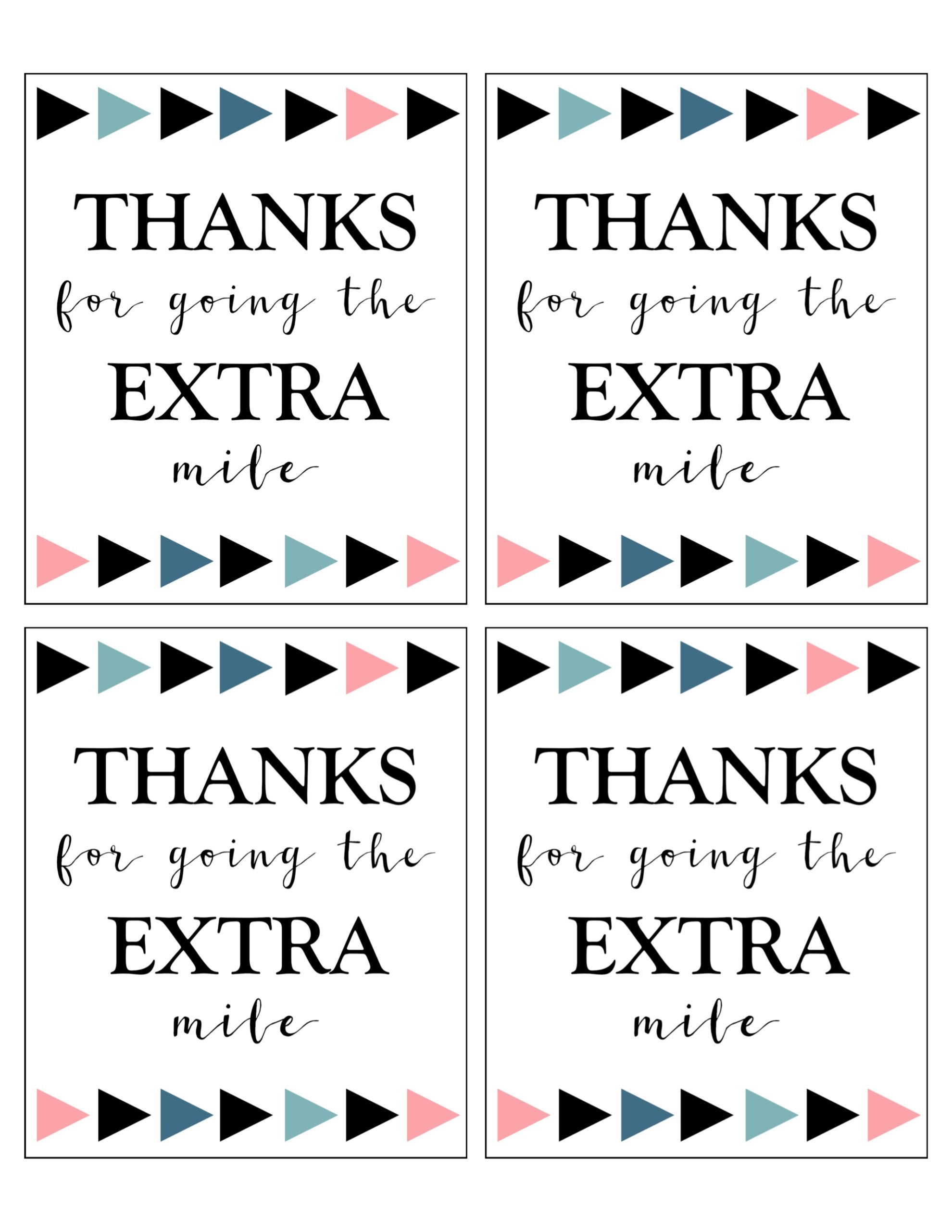 Extra Gum Thank You Printable - Paper Trail Design - Free Printable Volunteer Thank You Cards