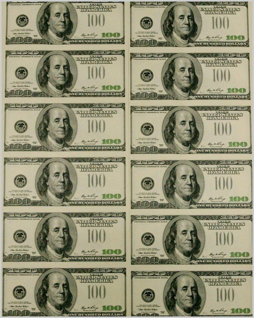Fake Dollars Printable - Masterprintable - Free Printable Play Dollar Bills