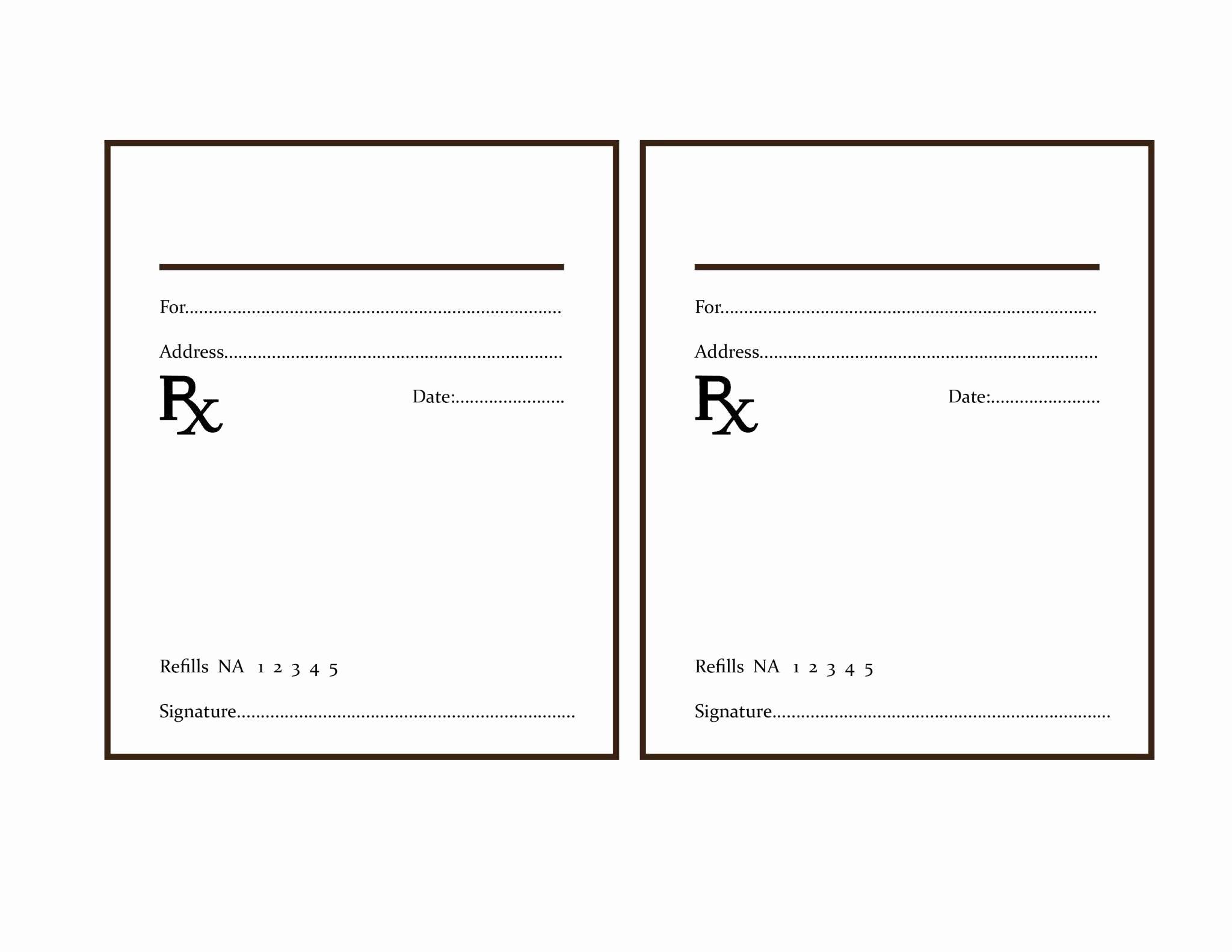 Fake Prescription Label Template   Locksmithcovington Template - Free Printable Prescription Pad