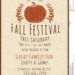 Fall Festival Flyers Template Free   Kaza.psstech.co   Free Printable Fall Festival Invitations