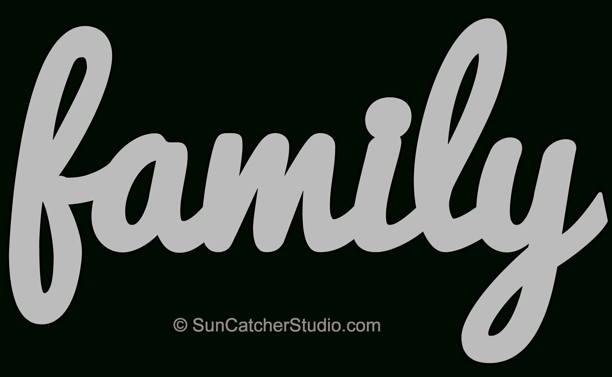 Family - Pattern, Template, Stencil, Printable Word Art Design - Free Printable Stencil Patterns