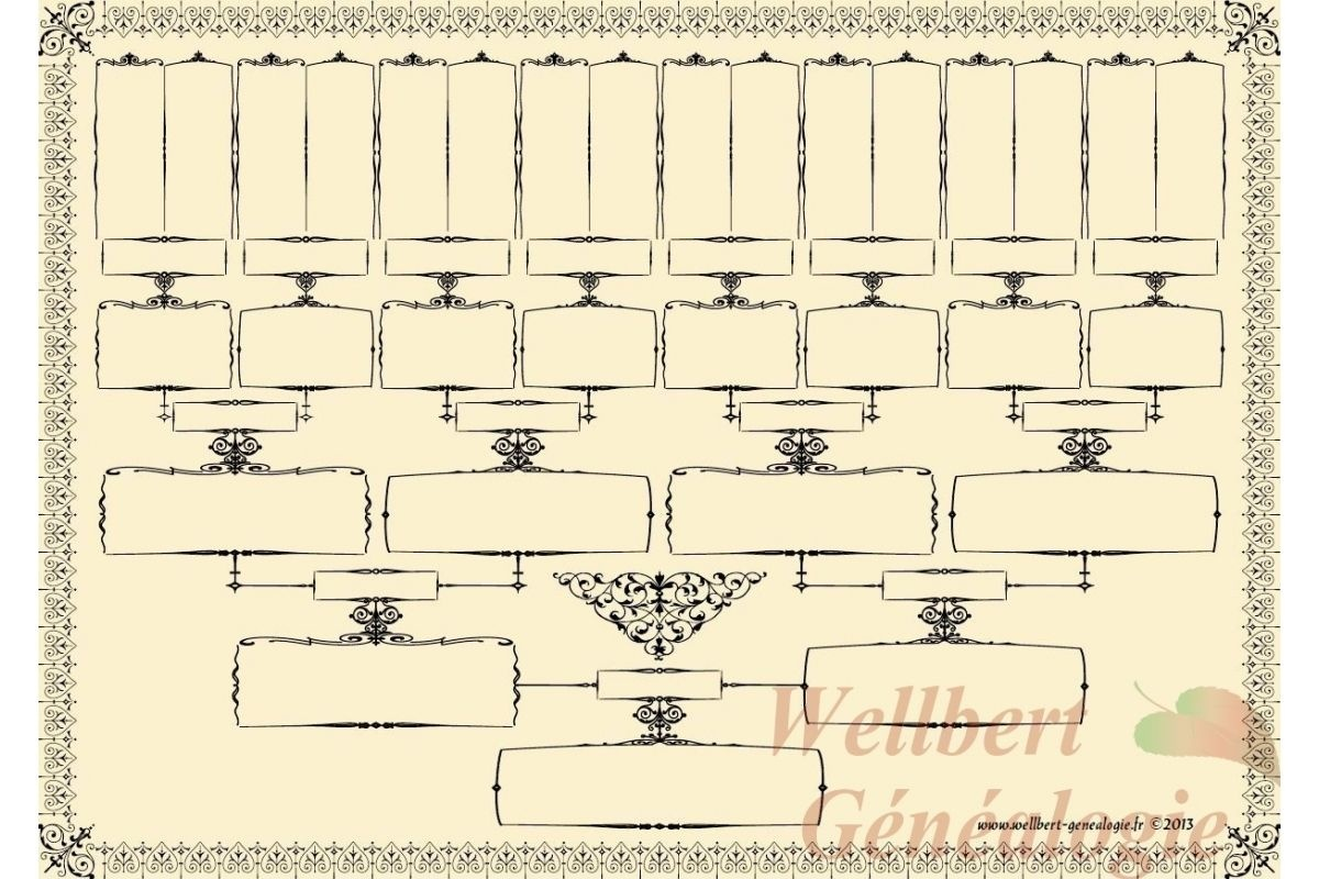 Family Tree Template 5 Generations Free - Blank Family Tree Template - Free Printable Family Tree Charts