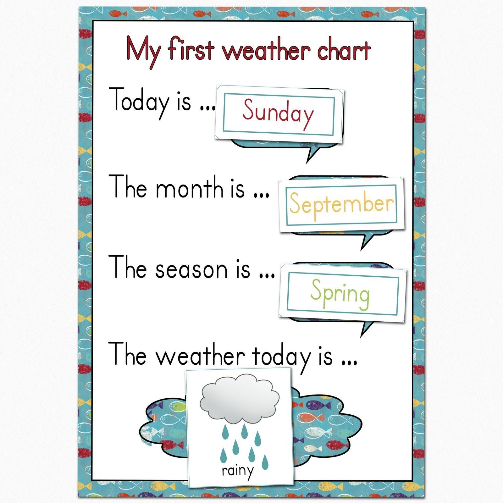 Fantail Digital Art: My First Weather Chart Free Printable | Science - Free Printable Weather Chart For Preschool