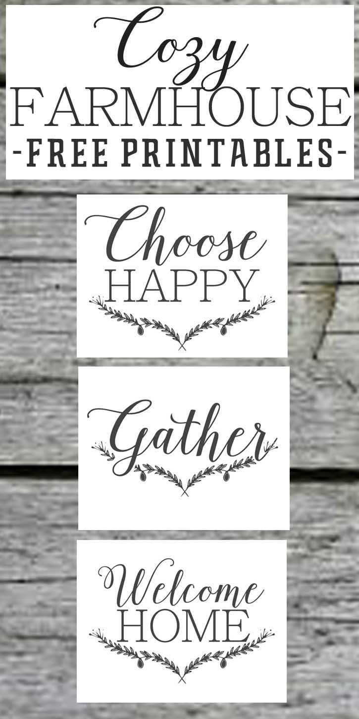 Farmhouse Free Printable Set-Gather-Choose Joy-Welcome Home - Free Printable Quote Stencils