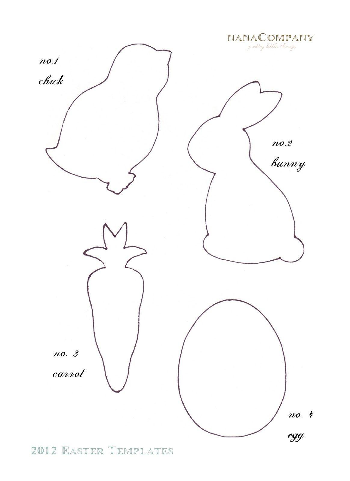 Felt Easter Patterns Free | Free+Printable+Easter+Template+For+ - Free Printable Easter Bunting