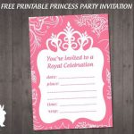 Ff083 Free Princess Party Invitation   Ruby And The Rabbit   Free Printable Princess Invitations