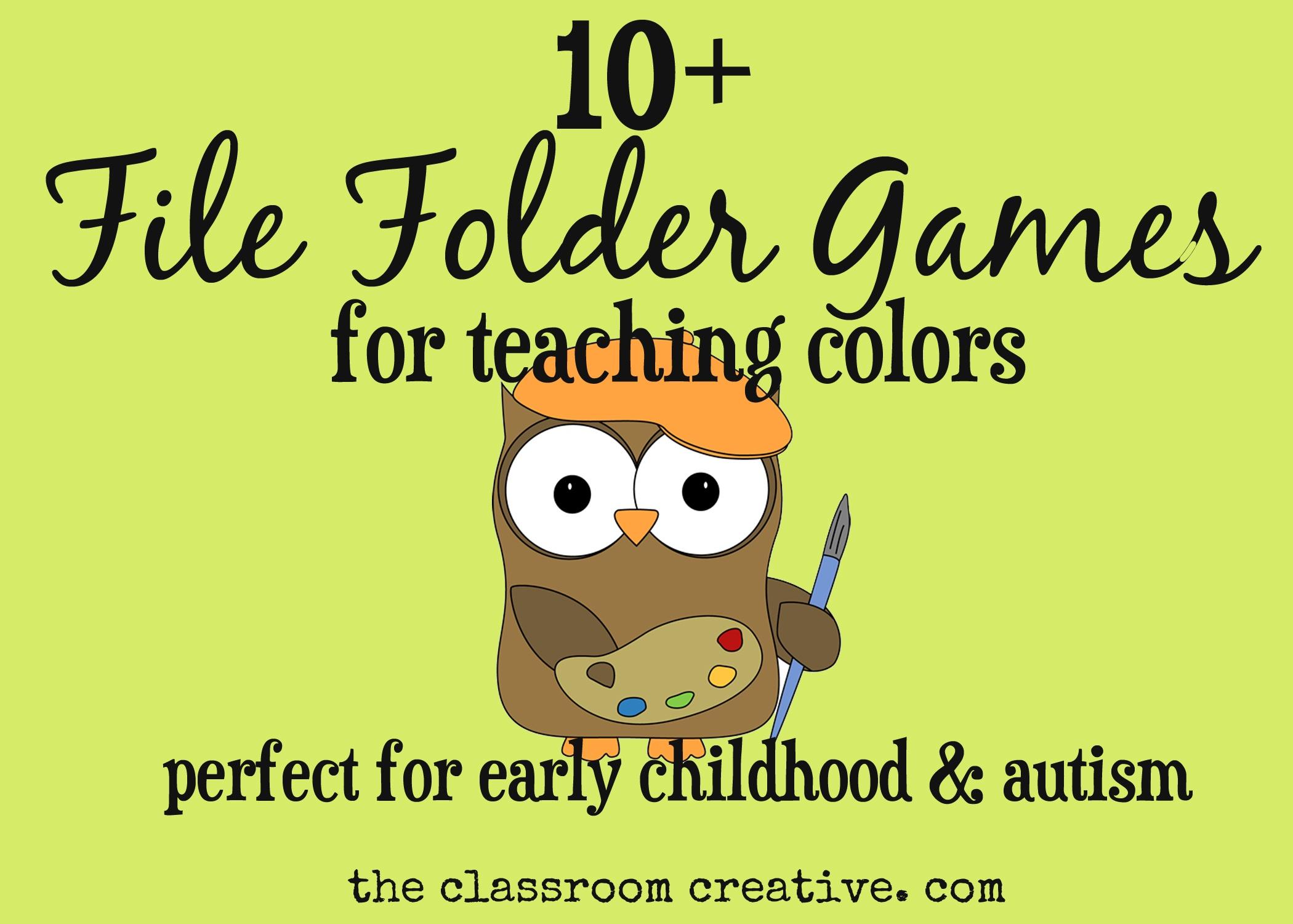 File Folder Games For Teaching Colors - Free Printable File Folder Games For Preschool