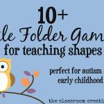 File Folder Games For Teaching Shapes   Free Printable File Folders For Preschoolers