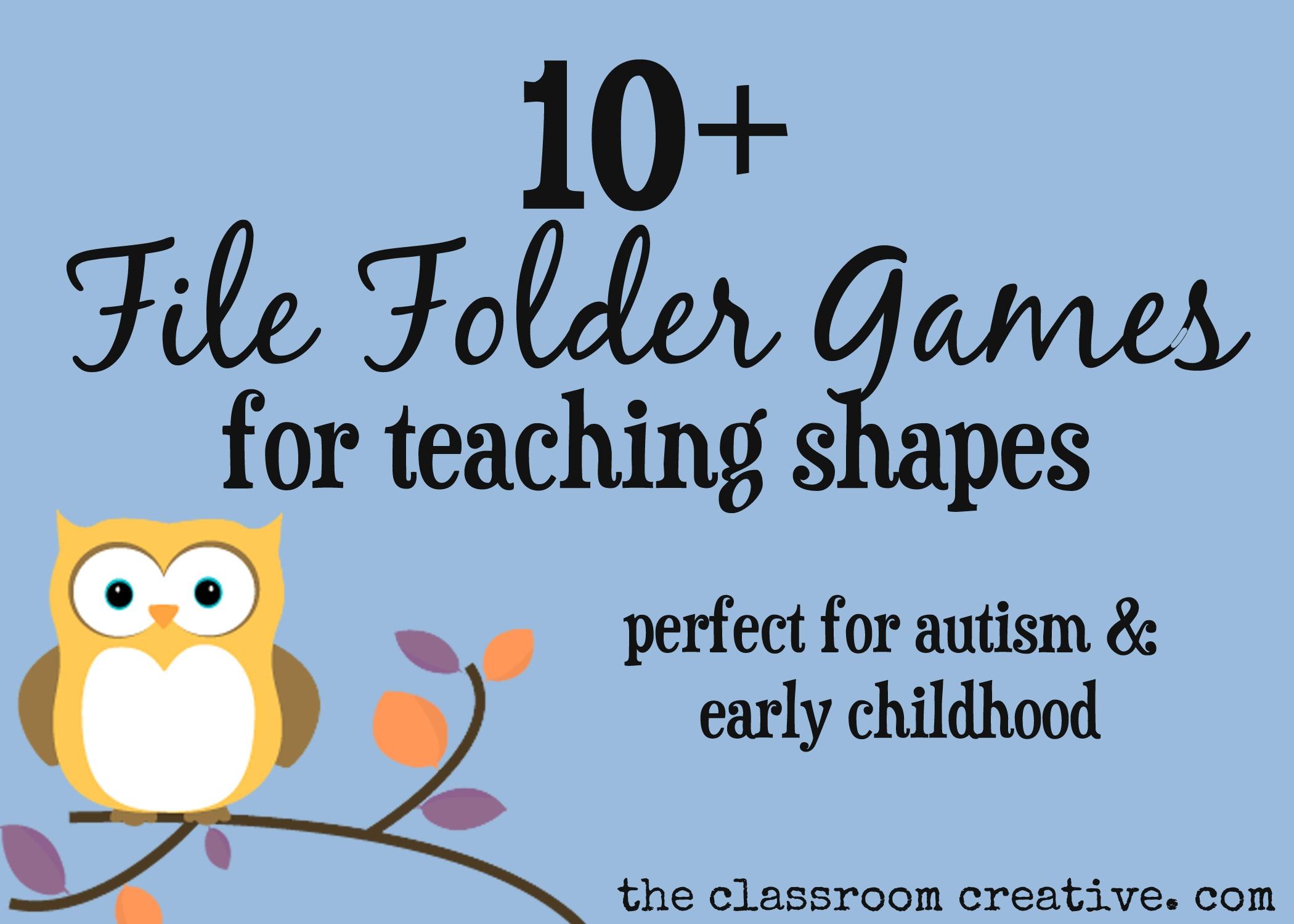 File Folder Games For Teaching Shapes - Free Printable File Folders For Preschoolers