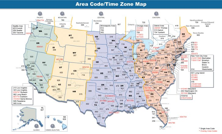 Free Printable Us Timezone Map With State Names