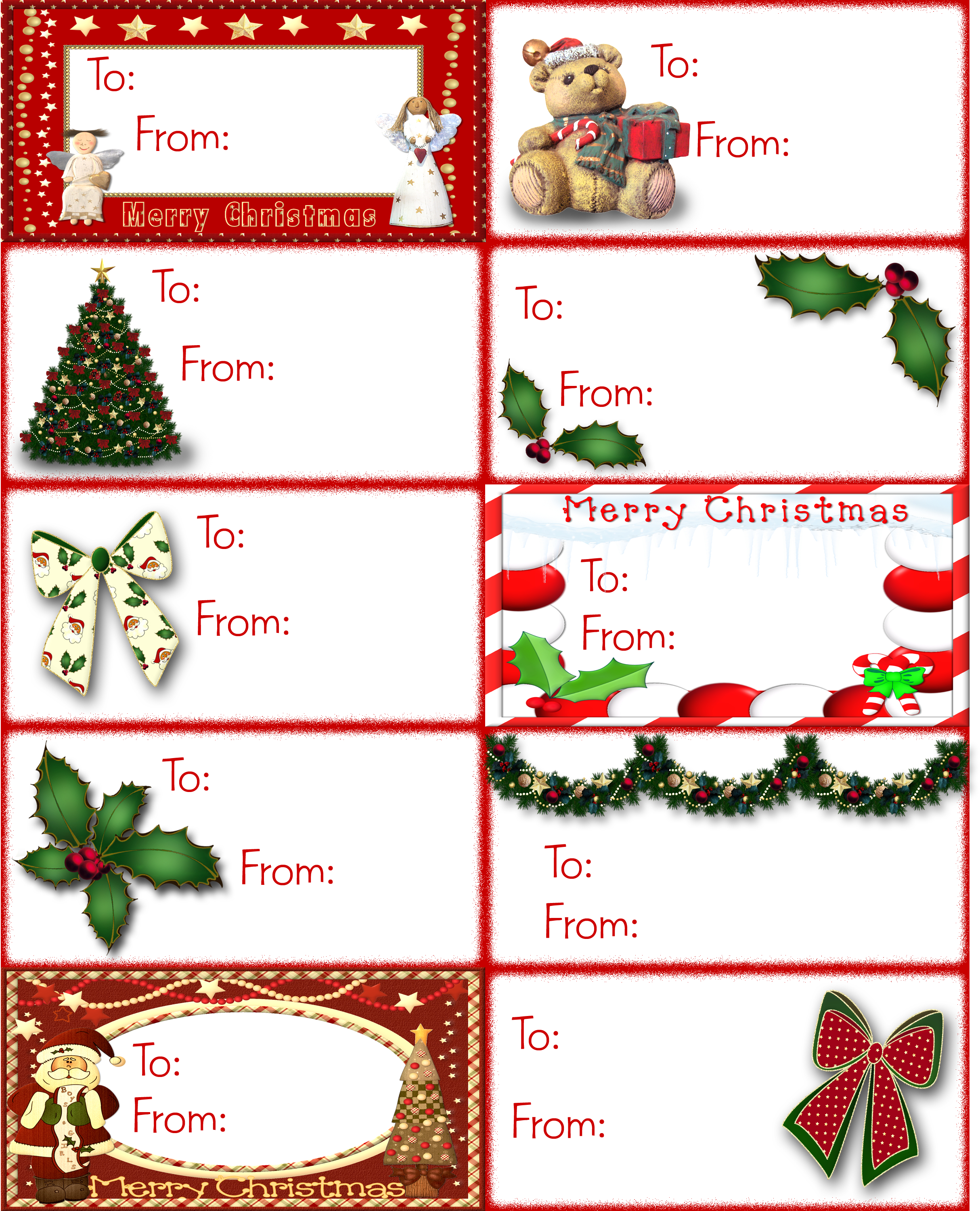 Find Tons Of Free Clip Art Images For Valentine's Day | Tags - Free Printable Gift Name Tags