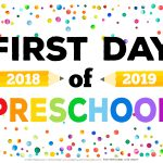 First Day Of School Signs   Free Printables   Happiness Is Homemade   First Day Of Kindergarten Sign Free Printable