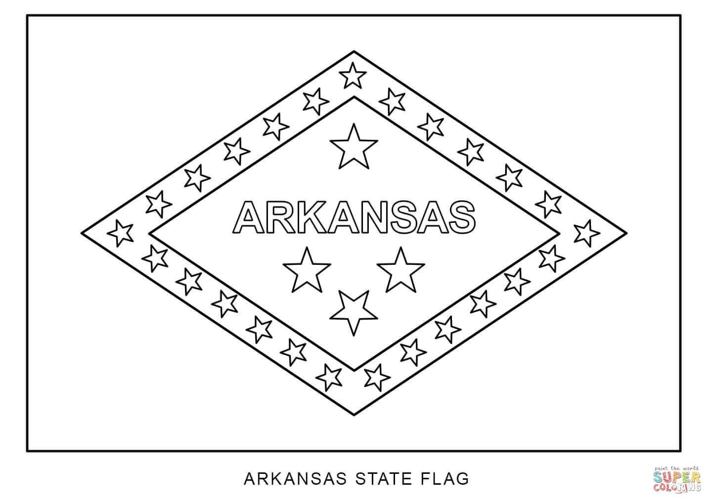 Flag Of Arkansas | Super Coloring | Camping Ideas | Printable - Free Printable Arkansas History Worksheets