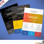 Flat Clean Corporate Business Flyer Free Psd | Psdfreebies   Business Flyer Templates Free Printable