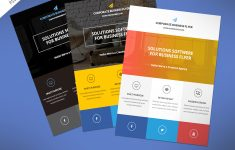 Flat Clean Corporate Business Flyer Free Psd | Psdfreebies – Business Flyer Templates Free Printable