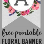 Floral Alphabet Banner Letters Free Printable | Printable Tags   Free Printable Flower Letters