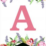 Floral Free Printable Alphabet Letters Banner   Paper Trail Design   Free Printable Flower Letters