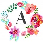 Floral Monogram Free Printable | New Home Ideas | Nursery Wall Art   Free Printable Flower Letters