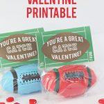 Football Valentine Printable | Printables/clipart | Valentine Box   Free Printable Football Valentines Day Cards