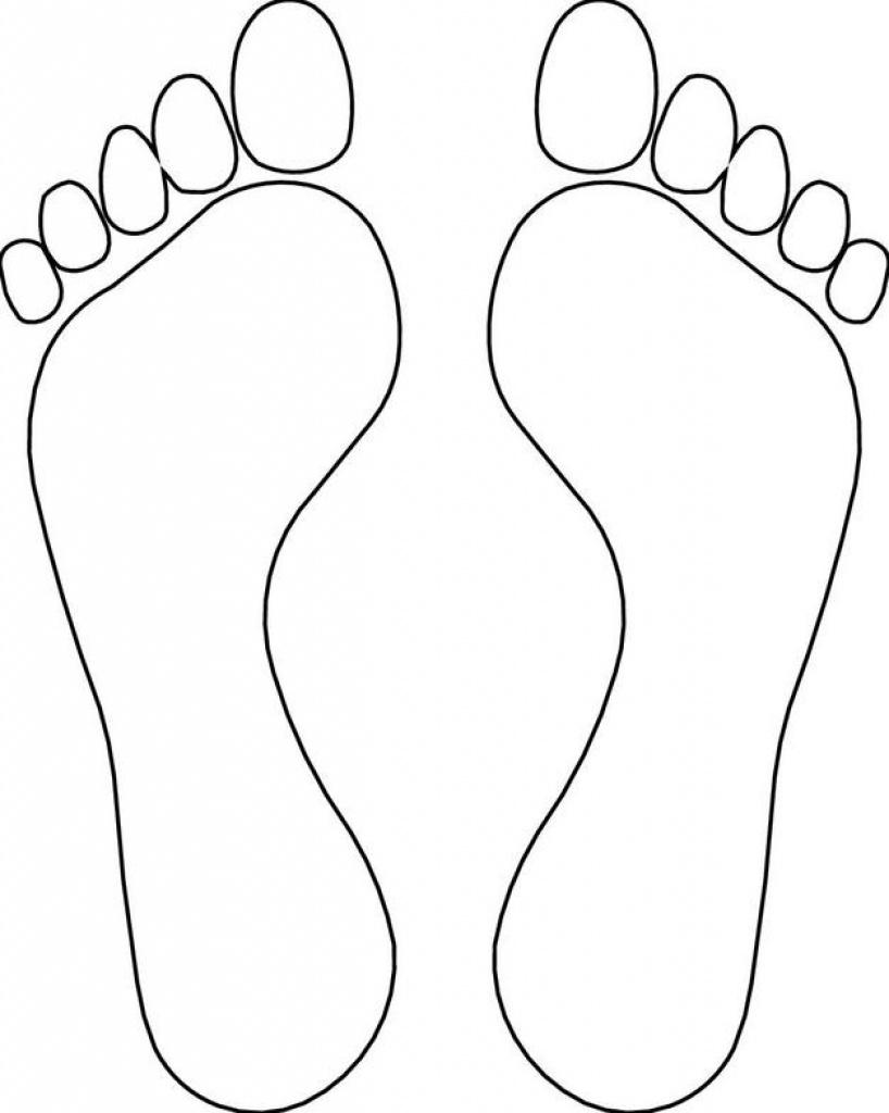 Footprint Template Clipart   Free Download Best Footprint Template - Free Printable Shoe Print Template