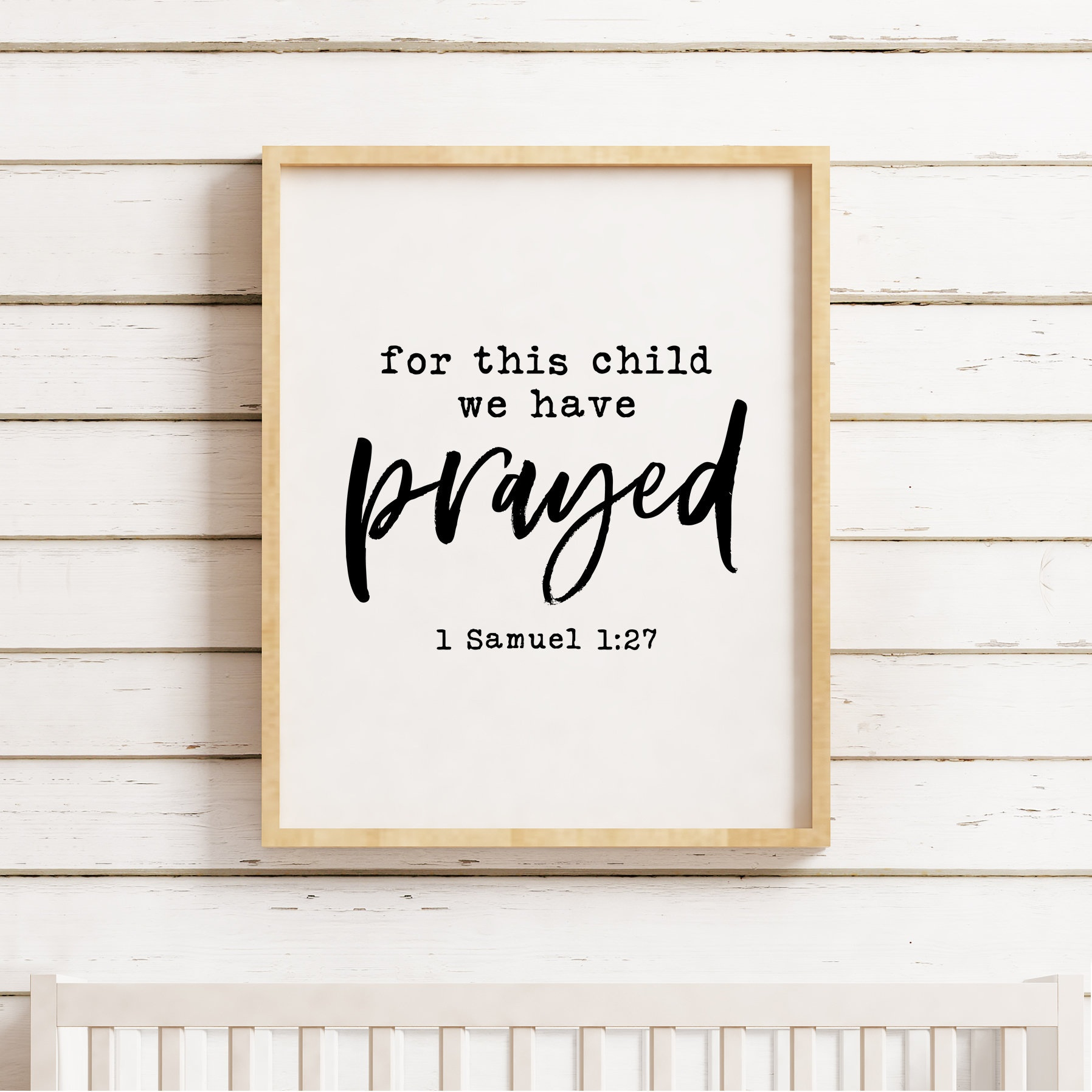 For This Child We Have Prayed Printable, 1 Samuel 1:27, Bible Verse - For This Child We Have Prayed Free Printable