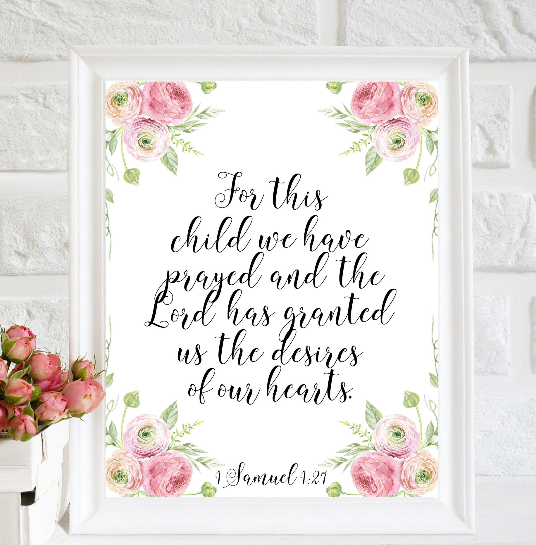 For This Child We Have Prayed Printable Nursery Decor Nursery | Etsy - For This Child We Have Prayed Free Printable