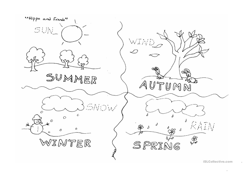 Four Seasons Worksheet - Free Esl Printable Worksheets Madeteachers - Free Printable Seasons Worksheets For Kindergarten