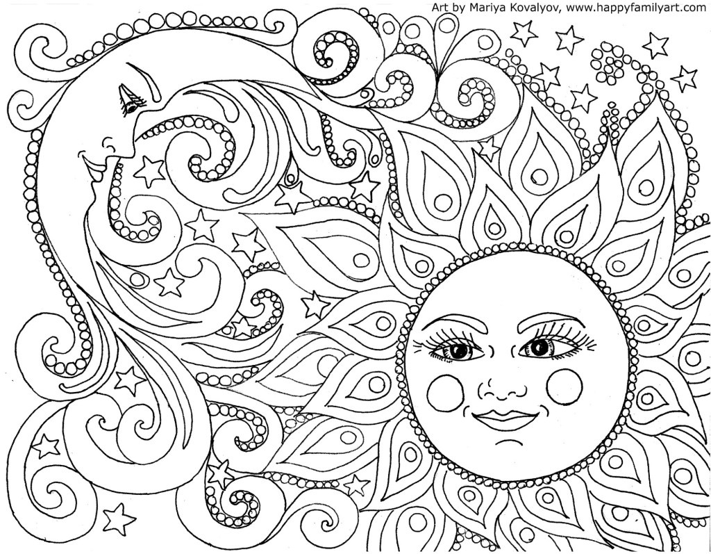 Free Adult Coloring Pages - Happiness Is Homemade - Free Printable Coloring Book Pages For Adults