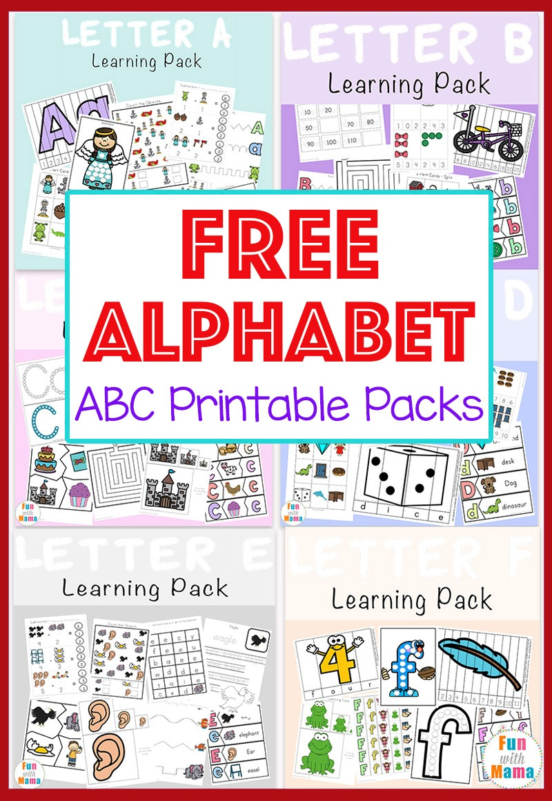Free Alphabet Abc Printable Packs - Fun With Mama - Free Printable Alphabet Games