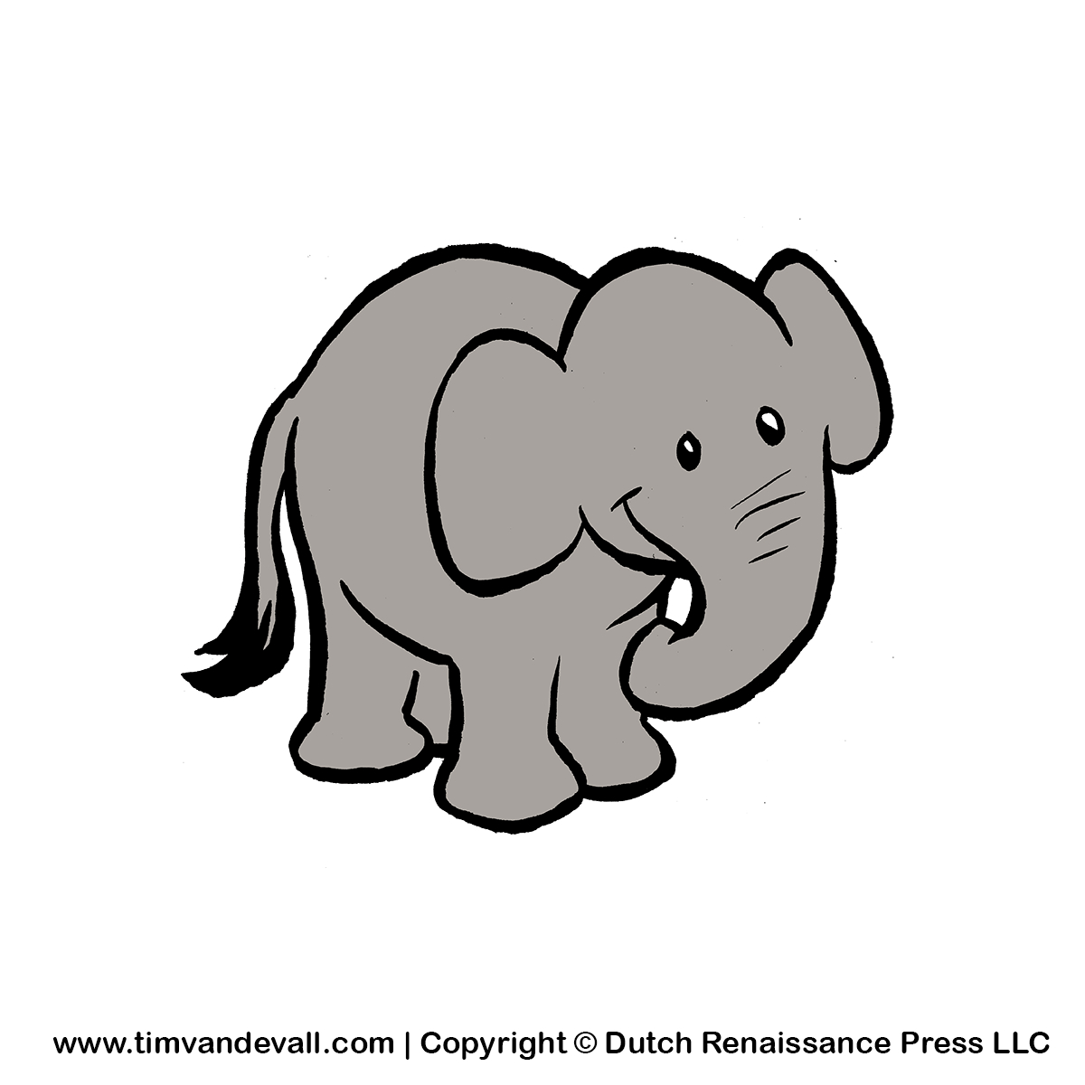 Free Baby Elephant Clipart For Kids Printable Animal Clip Art - Free Printable Elephant Pictures