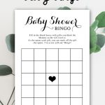 Free Baby Shower Printable – Baby Bingo   Instant Download In 2019   Baby Bingo Game Free Printable