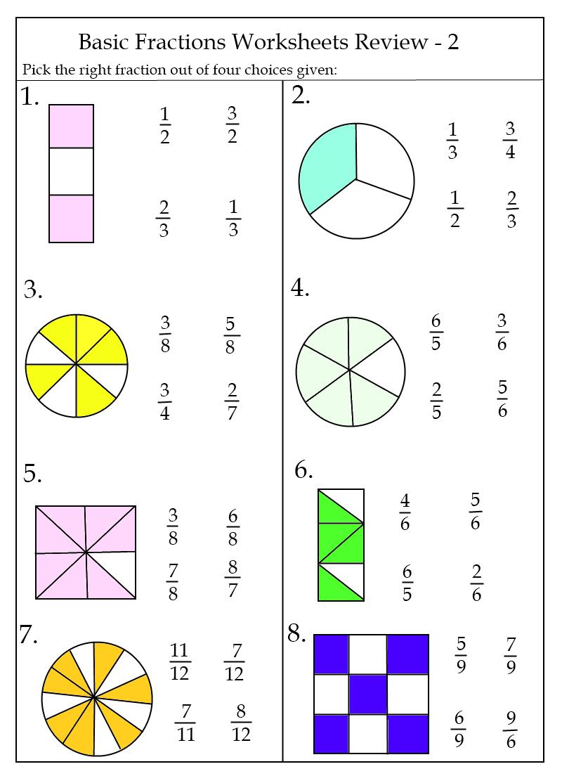 Free Basic Fraction Worksheets | K5 Worksheets | Math Worksheets For - Free Printable First Grade Fraction Worksheets