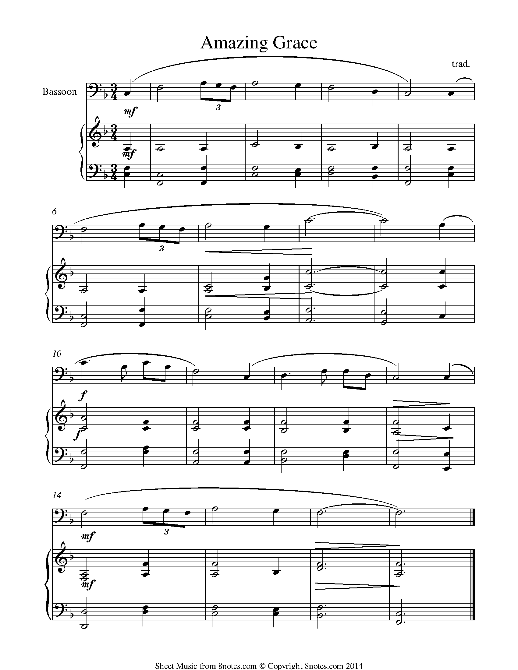 Free Bassoon Sheet Music, Lessons & Resources - 8Notes - Free Printable Classical Sheet Music For Piano
