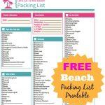 Free Beach Packing List Printable   {Ten Dollar Diy}   Beach   Free Printable Coupons For Panama City Beach Florida