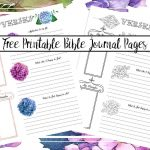 Free Bible Journaling Printables (Including One You Can Color!)   Free Printable Bible Study Journal Pages