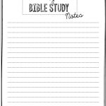 Free Bible Study Printables   Free Printable Bible Study Journal Pages