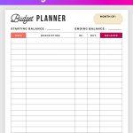 Free Budget Planner Printable   Printable Finance Planner | Home   Free Printable Finance Sheets